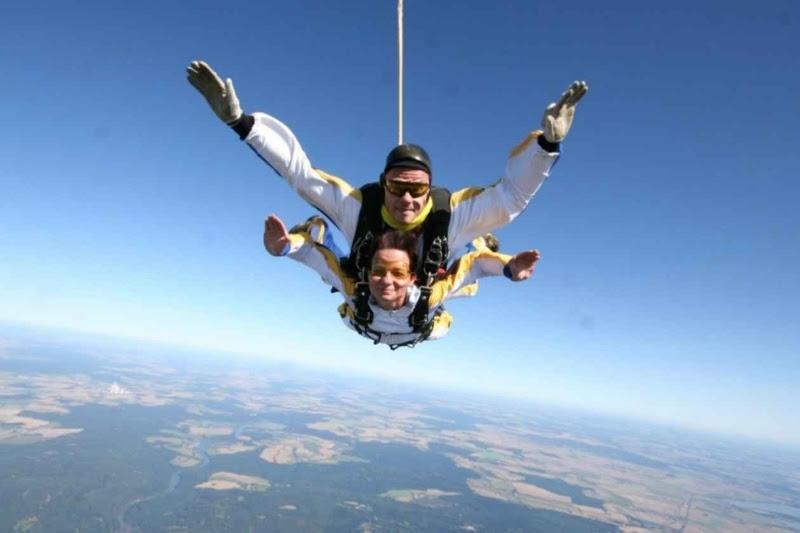 Полет над Прагой: прыжок в тандеме